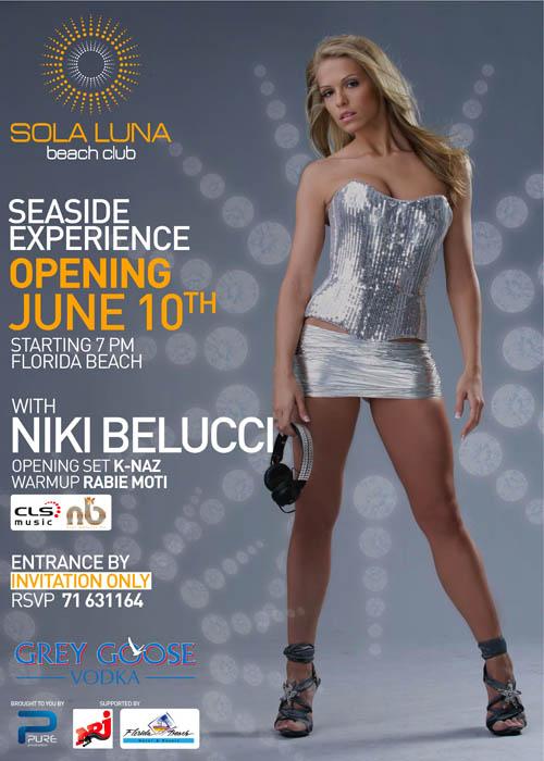 Sola Luna Beach Club Private Opening With NIKI BELUCCI