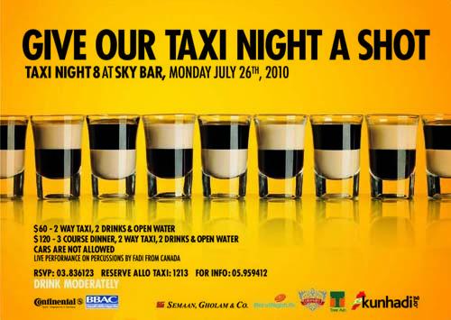 Taxi Night 8 at Sky Bar