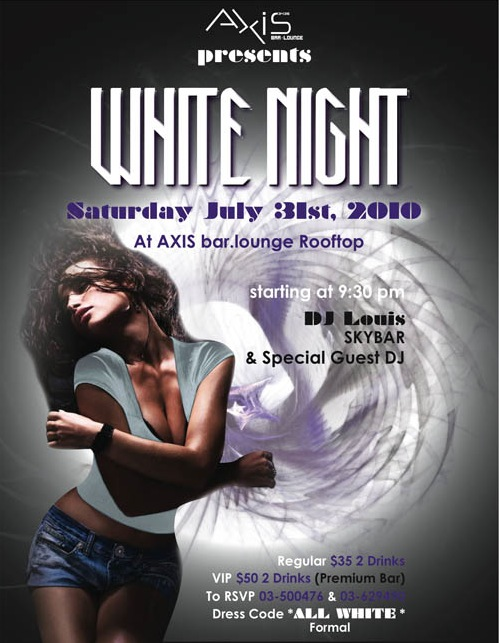 WHITE NIGHT At AXIS bar.lounge Rooftop