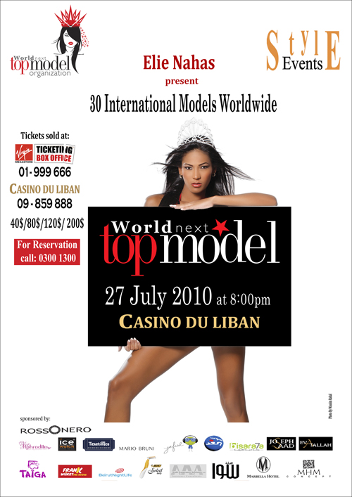 World Next Top Model at Casino Du Liban