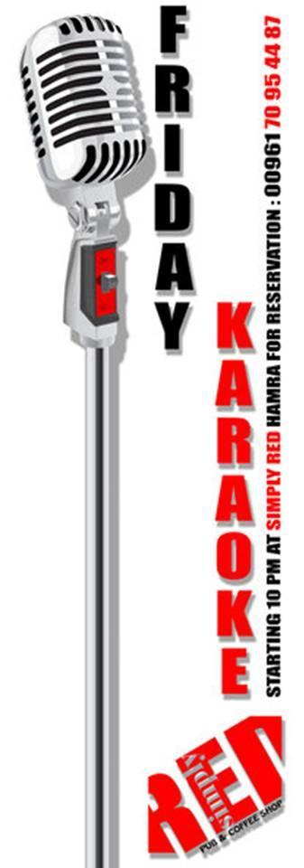 Friday's KARAOKE at Simply RED