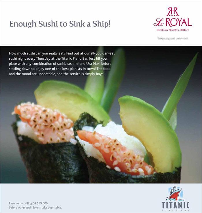 Enough Sushi to Sink a Ship