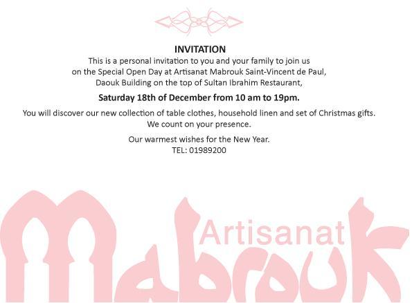 Open Day At Artisanat Mabrouk Saint-Vincenti De Paul