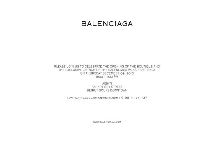 Balenciaga Boutique Opening At Beirut