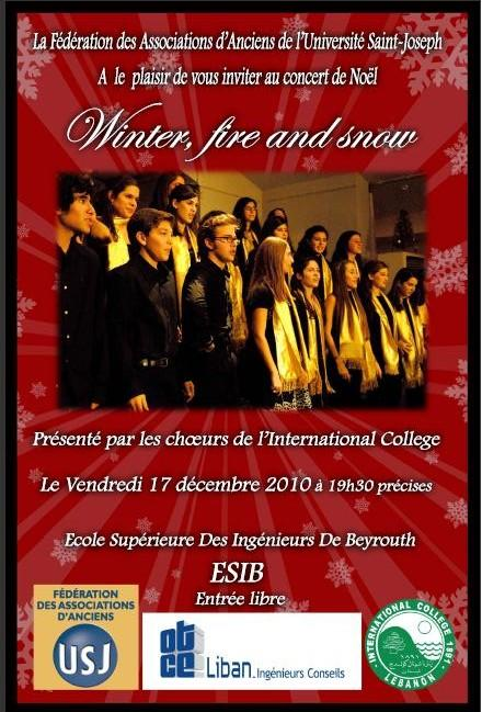 Concert De Noel Winter Fire And Snow
