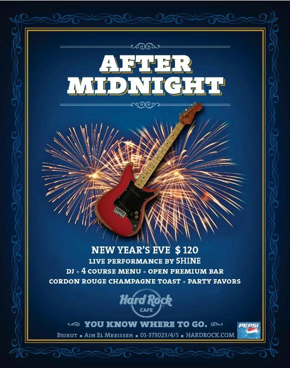 New Year's Eve At Hard Rock Cafe
