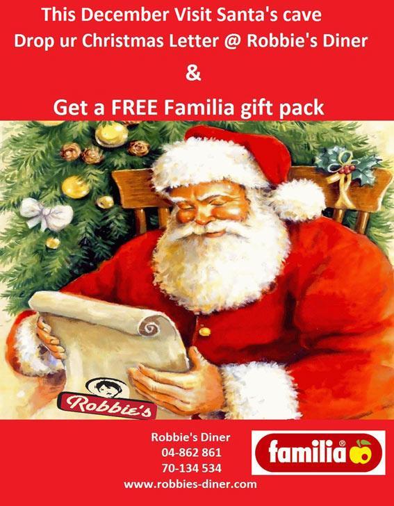 Santa At Robbie's Diner