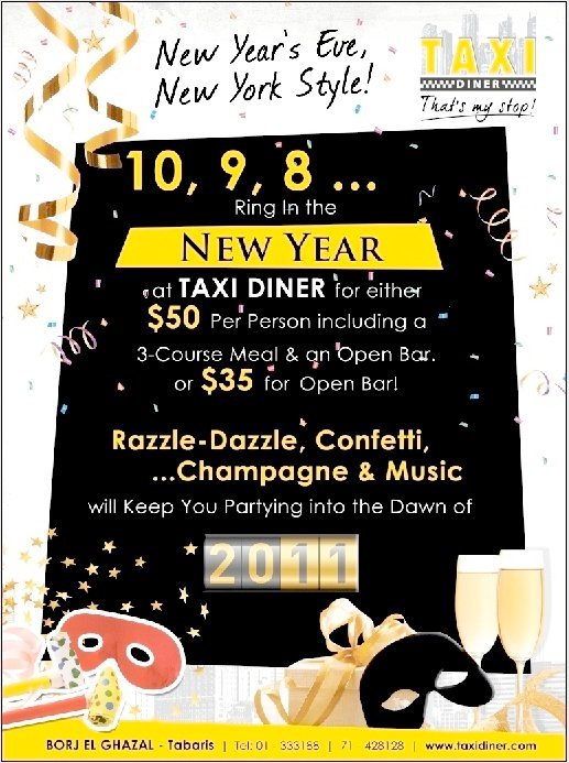 New Year's Eve At Taxi Diner