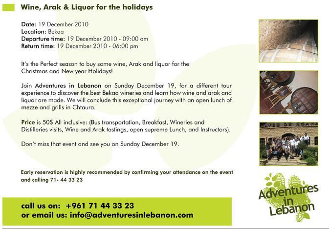 Wine Arak And Liquor For The Holidays