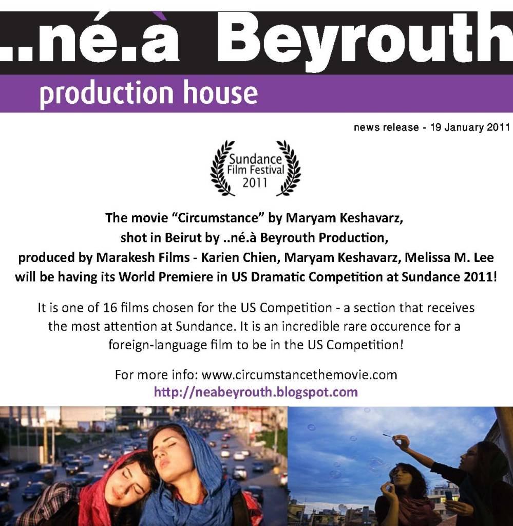 Circumstance: A Movie Shot in Beirut Premieres At Sundance Film Festival