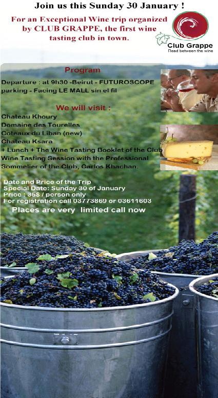 Exceptional Wine Trip Organized By Club Grappe