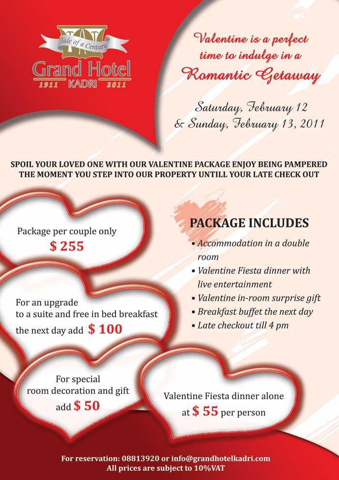 Valentine's Package At Kadri Hotel