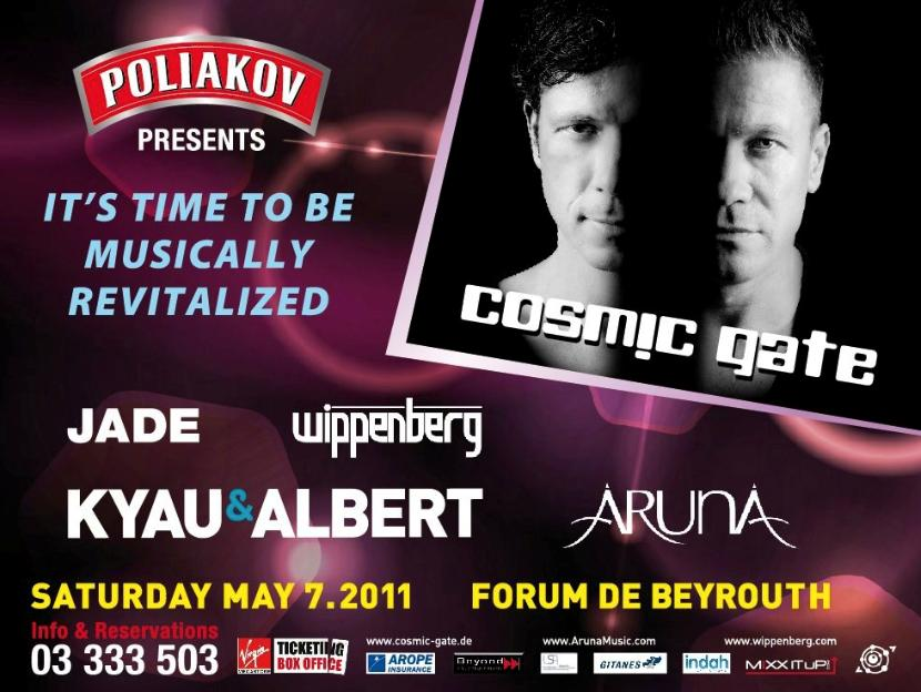 Poliakov Presents Cosmic Gate, Kyau And Albert, Wippenberg And Aruna At Forum De Beyrouth