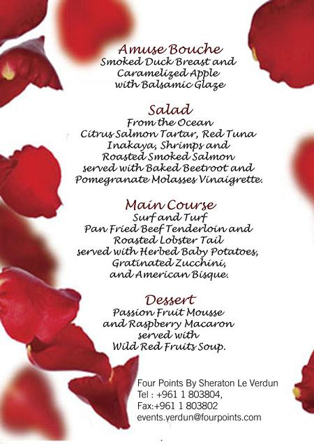 Valentine's Eve Package At Four Points