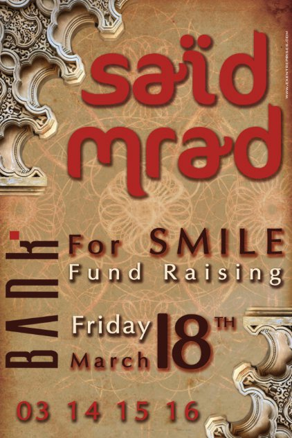 Said Mrad For Smile Fund Raising At Bank