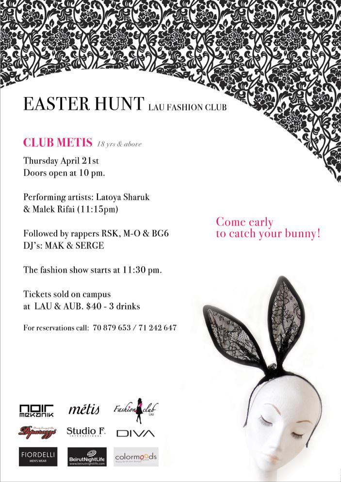 Easter Hunt LAU Fashion Club At Metis