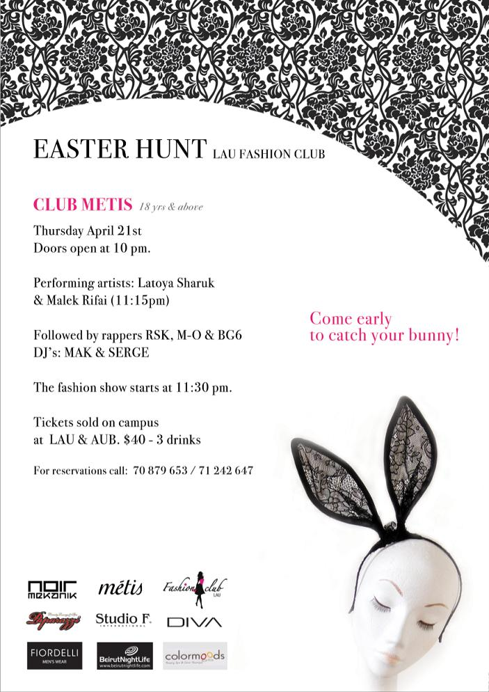 Easter Hunt LAU Fashion Club At Metis
