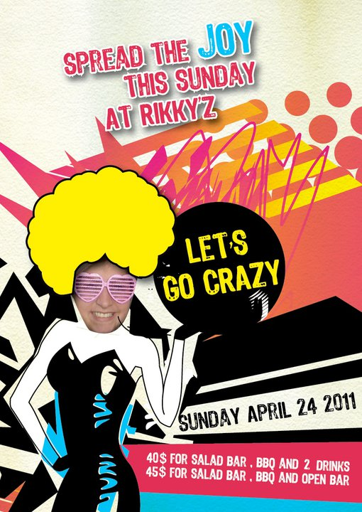 Spread The Joy This Sunday At Rikky'z