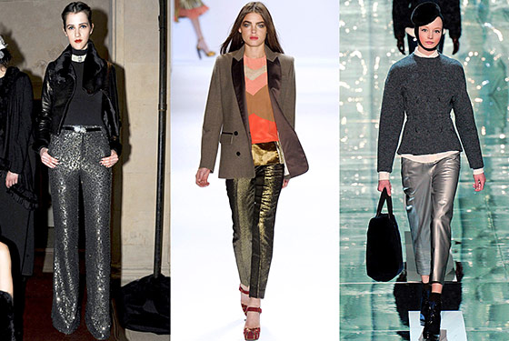 Fashion Forward: Metallic Pant Trend
