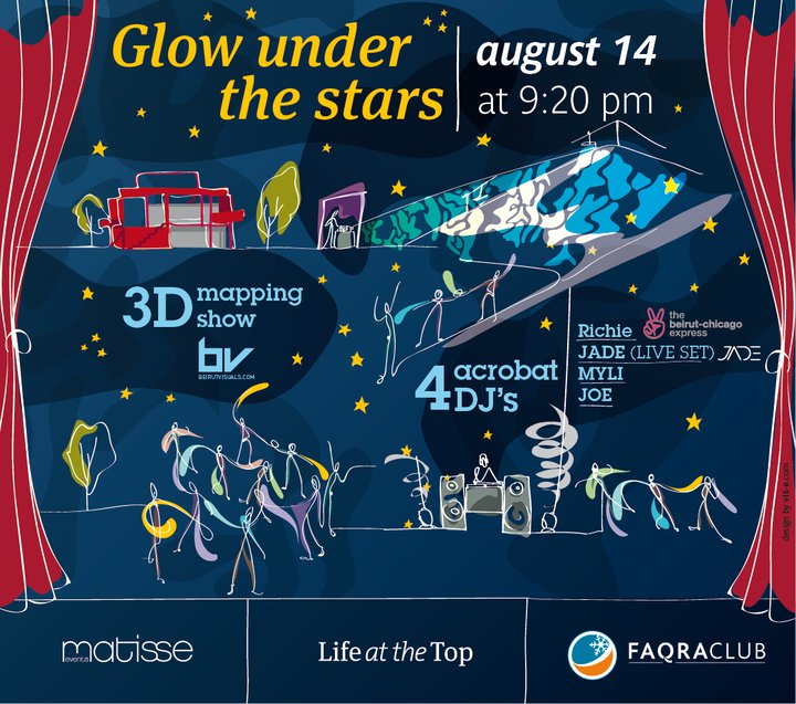 Glow Under The Stars At Faqra Club
