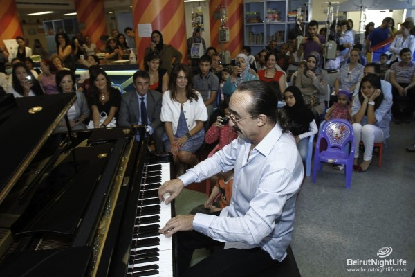 Raul di Blasio Performs at the Children Cancer Center of Lebanon
