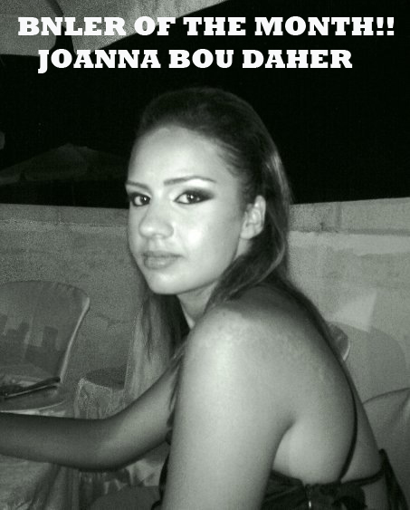 Congratulations to Joanna Bou Daher: February BNL Reader of the Month!!