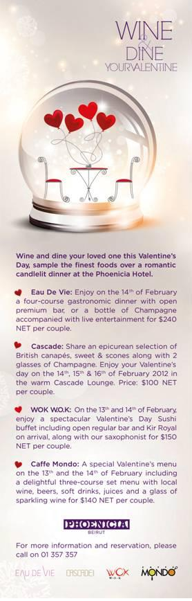 Valentine At Phoenicia Hotel