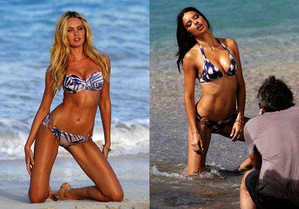 Sexy Victoria's Secret Models Pose for Bikini Photos