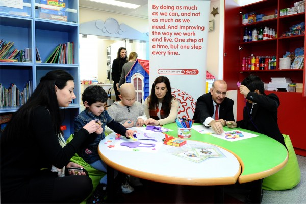 Coca-Cola Upgrades Play Area at Children Cancer Center