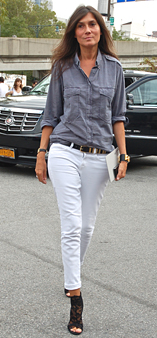 Boyfriend Shirt on Skinny Jeans