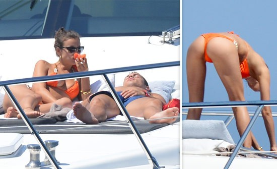 Cristiano Ronaldo and Sexy Girlfriend Irina Shayk Relax on a Yacht in St. Tropez