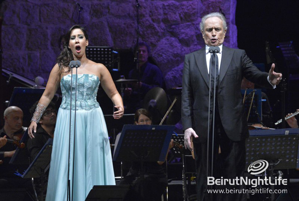 José Carreras and Monica Yunus Serenaded Guests at the Zouk Mikael Festival