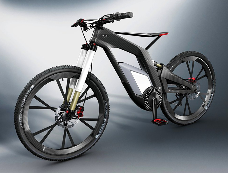 Audi shows off e-bike concept: Carbon fiber body, top speeds of 50MPH, built-in Wi-Fi
