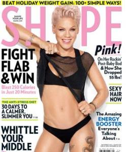 Pink Rocks Out on the Cover of SHAPE