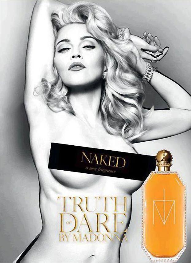 Madonna poses naked in new `airbrushed` perfume ad