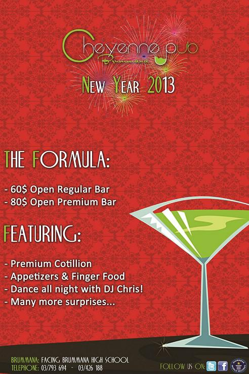 New Year 2013 At Cheyenne Video Bar