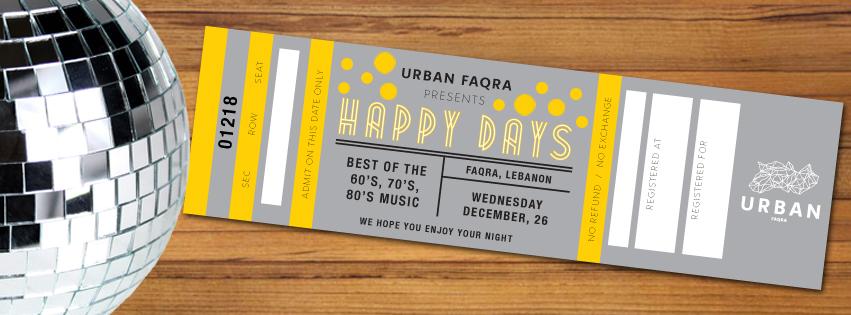 Urban Faqra Presents Happy Days