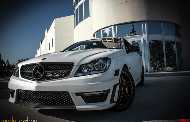 The Mode Carbon Mercedes-Benz C63 Coupe Is Matte White Heat