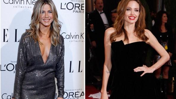 Jen Aniston and Angelina Jolie SPLIT reuters