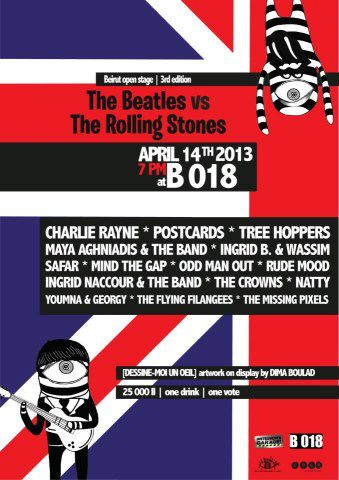 The Beatles vs The Rolling Stones at B018