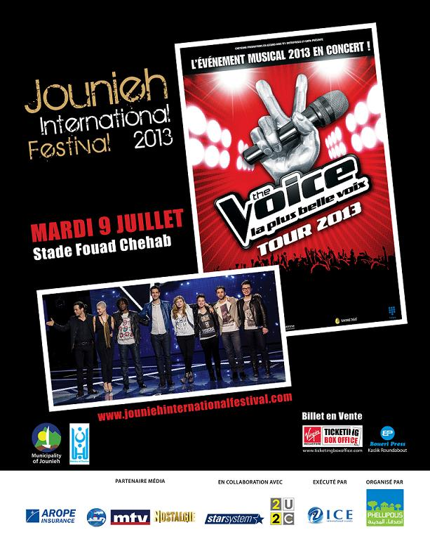 The VOICE Tour at Jounieh International Festival 2013
