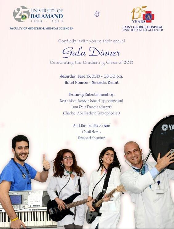 Gala Dinner celebrating the Graduating Class of 2013