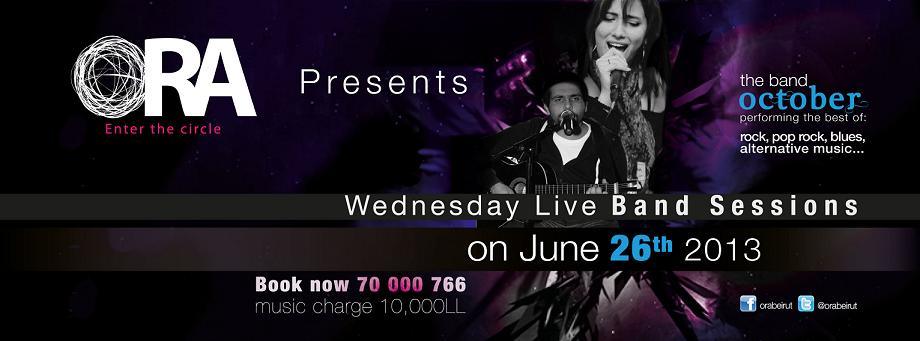 Wednesday Live Band Sessions at Ora Beirut