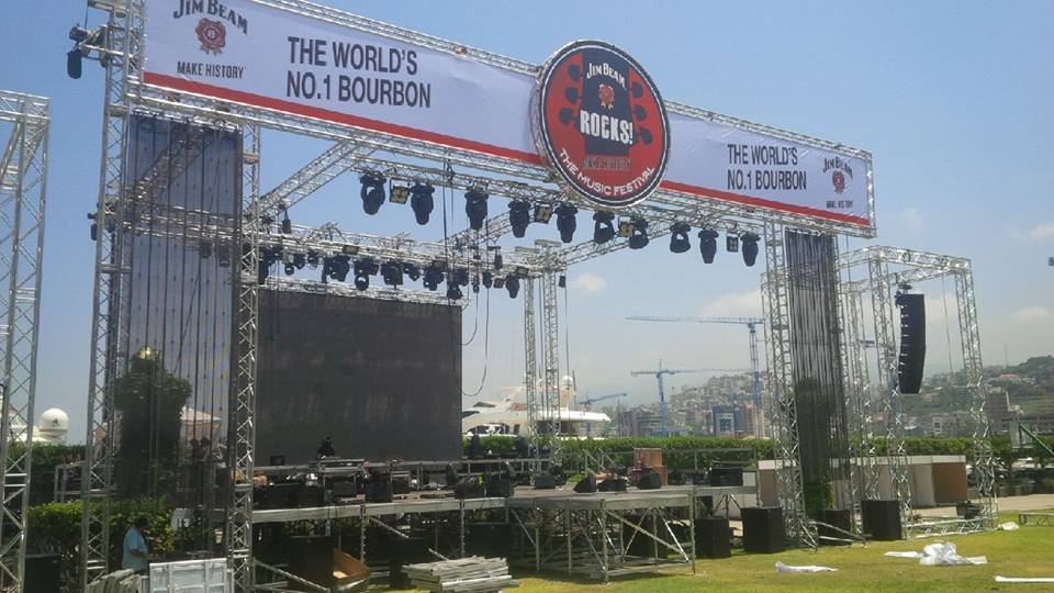 Tomorrow JIM BEAM ROCKS for Peace, Music, Life and Lebanon!