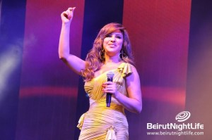 Najwa Karam Steals Hearts at Dbayeh Festival 2014