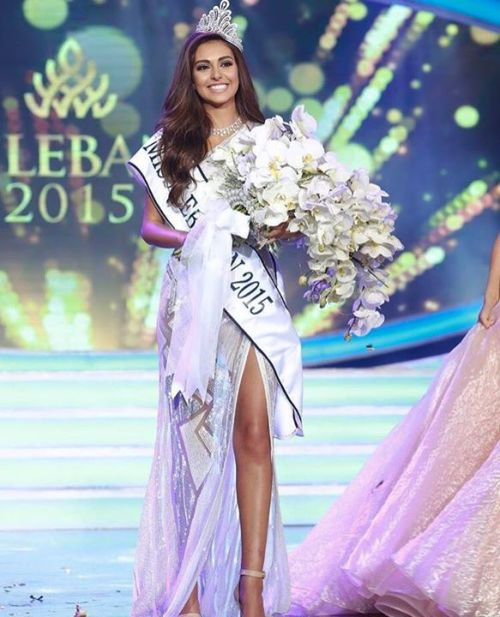 Valerie Abou Chacra crowned Miss Lebanon 2015