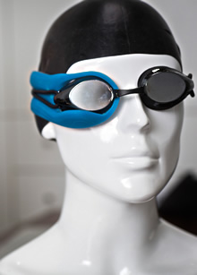 Swimmer and engineer Hind Hobeika, 26, invented high-tech swim goggles, called Instabeat, that allow swimmers to track their heart rates throughout each workout.