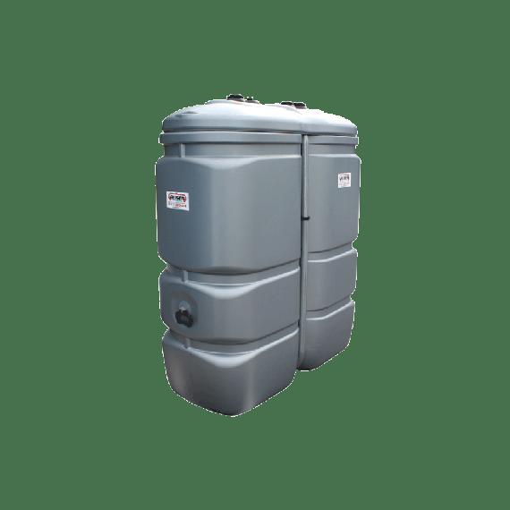 citerne fuel double paroi pehd sans odeur 1000 litres grise avec limiteur de remplissage 2