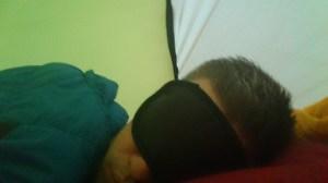 Sovmask måste man ha!