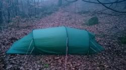 Skåneleden. Och ett tält där på.